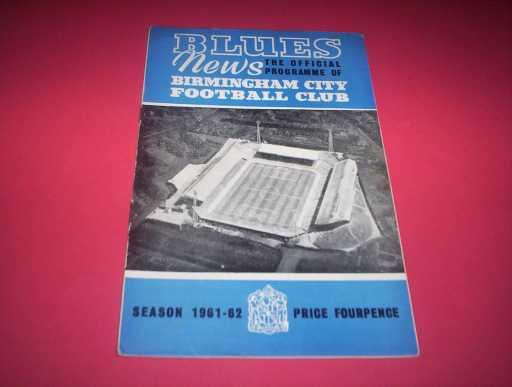 BRITISH CLUBS IN EUROPE » 1961/62 BIRMINGHAM V ESPANOL FAIRS CUP