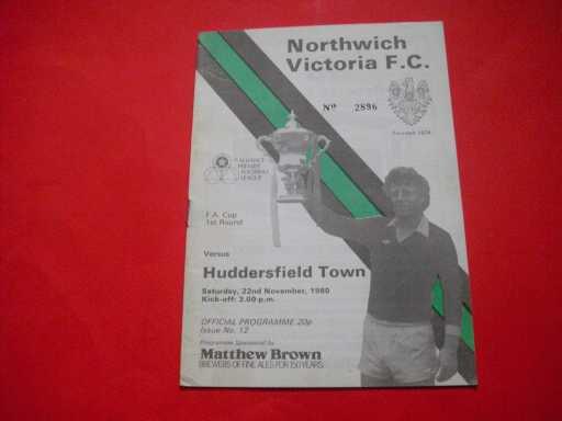 LGE V NON LGE IN FA CUP » 1980/81 NORTHWICH V HUDDERSFIELD FA CUP