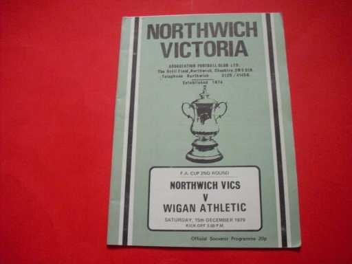 LGE V NON LGE IN FA CUP » 1979/80 NORTHWICH V WIGAN FA CUP