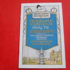 1923 BOLTON V WEST HAM FA CUP FINAL REPRINT