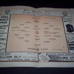 1950/51 HULL V ROTHERHAM
