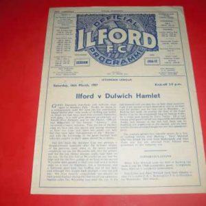 1956/57 ILFORD V DULWICH HAMLET