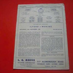 1958/59 ILFORD V WOKING