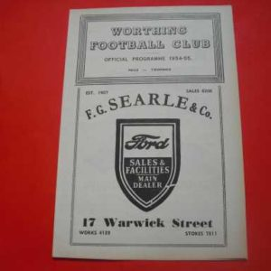 1954/55 WORTHING RESERVES V WEST TARRING SUSSEX CUP