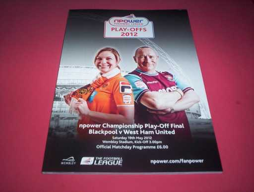 PLAY OFF FINALS » 2011/12 BLACKPOOL V WEST HAM PLAY OFF FINAL
