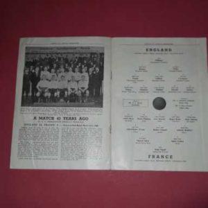 1951 ENGLAND V FRANCE – FESTIVAL OF BRITAIN @ ARSENAL