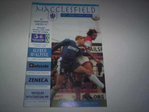 LEAGUE 1990s » 1997/98 MACCLESFIELD V HARTLEPOOL