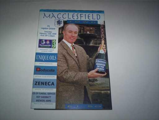 LEAGUE 1990s » 1997/98 MACCLESFIELD V ORIENT