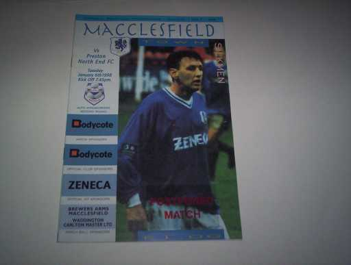 LEAGUE 1990s » 1997/98 MACCLESFIELD V PRESTON AUTO WINDSCREENS