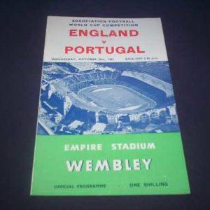 1961 ENGLAND V PORTUGAL WORLD CUP QUALIFIER