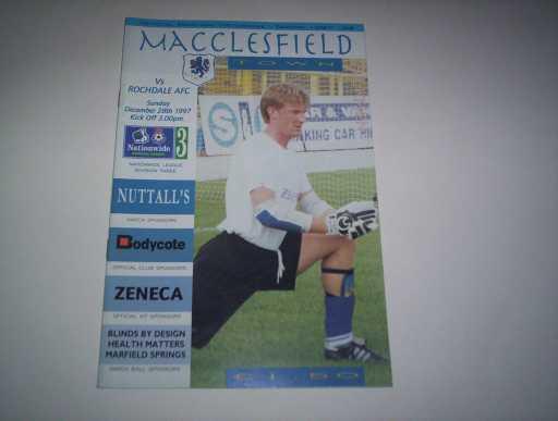 LEAGUE 1990s » 1997/98 MACCLESFIELD V ROCHDALE