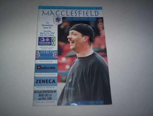 LEAGUE 1990s » 1997/98 MACCLESFIELD V SHREWSBURY