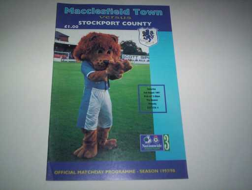 LEAGUE 1990s » 1997/98 MACCLESFIELD V STOCKPORT FRIENDLY