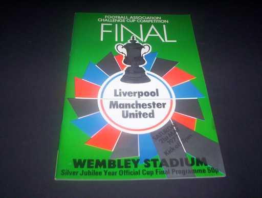 FA CUP FINALS » 1977 LIVERPOOL V MAN UTD FA CUP FINAL