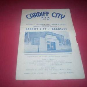 1951/52 CARDIFF V BARNSLEY