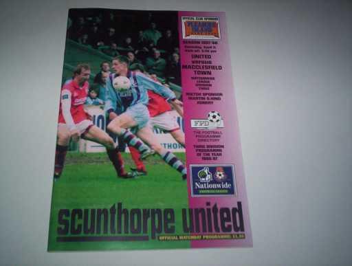 LEAGUE 1990s » 1997/98 SCUNTHORPE V MACCLESFIELD