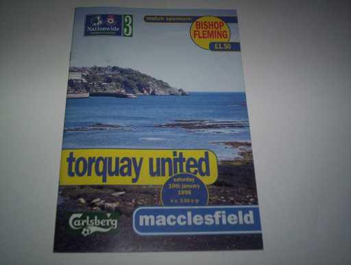 LEAGUE 1990s » 1997/98 TORQUAY V MACCLESFIELD