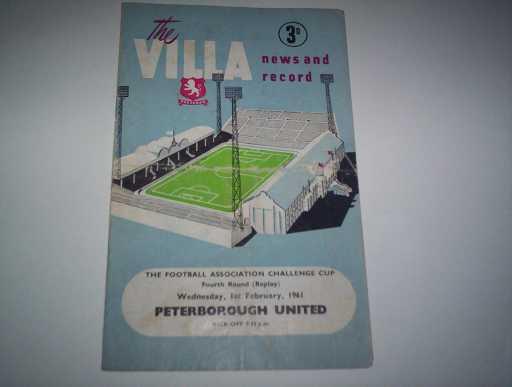 LEAGUE 1960s » 1960/61 ASTON VILLA V PETERBOROUGH FA CUP REP
