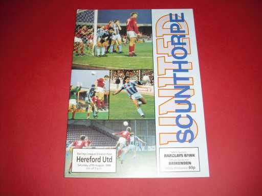 FIRSTS AND LASTS @ GROUNDS » 1988/89 SCUNTHORPE V HEREFORD