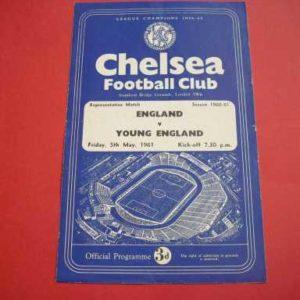 1961 ENGLAND V YOUNG ENGLAND @ CHELSEA