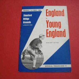 1964 ENGLAND V YOUNG ENGLAND @ CHELSEA