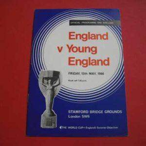 1966 ENGLAND V YOUNG ENGLAND @ CHELSEA