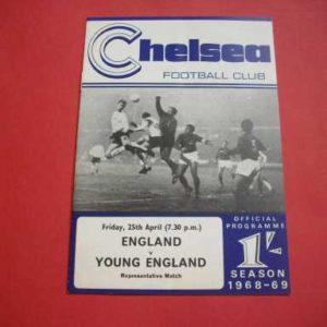 1969 ENGLAND V YOUNG ENGLAND @ CHELSEA