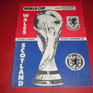 1977 WALES V SCOTLAND WORLD CUP QUALIFIER @ LIVERPOOL