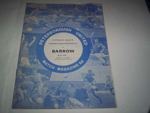 LEAGUE 1970s » 1971/72 PETERBOROUGH V BARROW