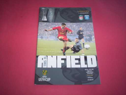 BRITISH CLUBS IN EUROPE » 2002/03 LIVERPOOL V AUXERRE UEFA CUP