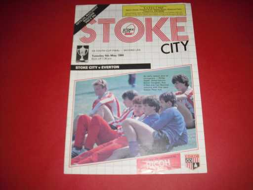 MISC FINALS » 1984 STOKE V EVERTON YOUTH CUP FINAL