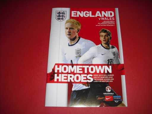 ENGLAND U18-23 » 2014 ENGLAND V WALES U21 @ DERBY COUNTY