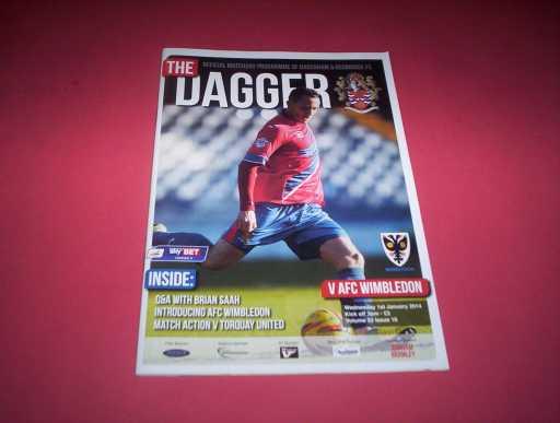 LEAGUE 2010s » 2013/14 DAGENHAM V AFC WIMBLEDON