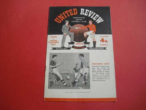 LEAGUE 1950s » 1955/56 MAN UTD V BOLTON