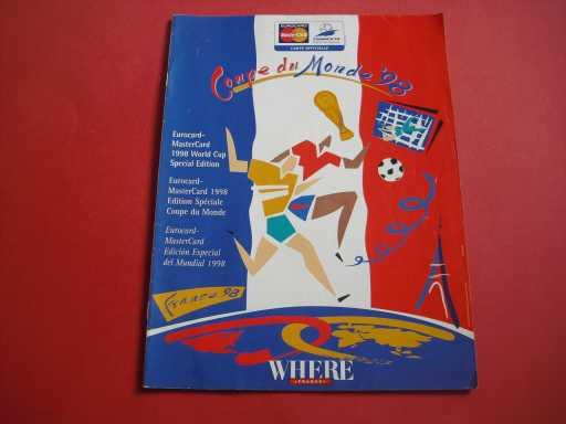 WORLD CUP » 1998 MASTERCARD WORLD CUP MAGAZINE