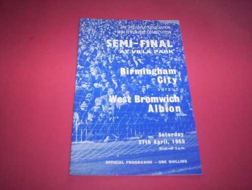 FA CUP SEMI FINALS » 1967/68 BIRMINGHAM V WBA FA CUP SEMI FINAL