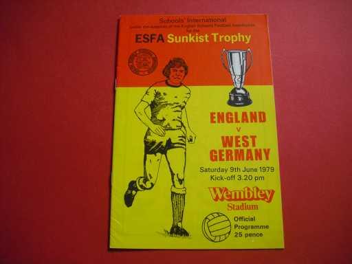 ENGLAND SCHOOLS » 1979 ENGLAND V WEST GERMANY SCHOOLS
