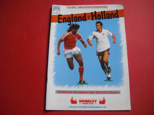 ENGLAND HOMES » 1988 ENGLAND V HOLLAND