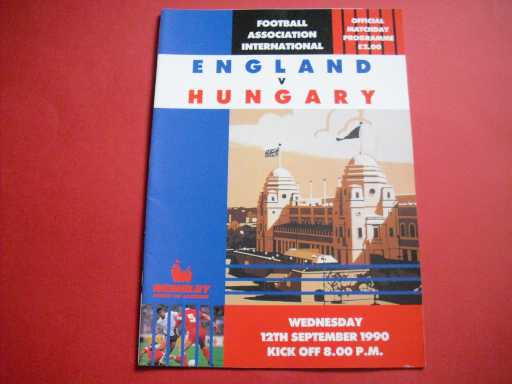 ENGLAND HOMES » 1990 ENGLAND V HUNGARY