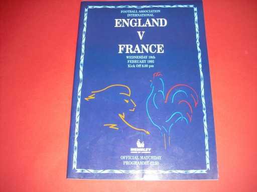 ENGLAND HOMES » 1992 ENGLAND V FRANCE
