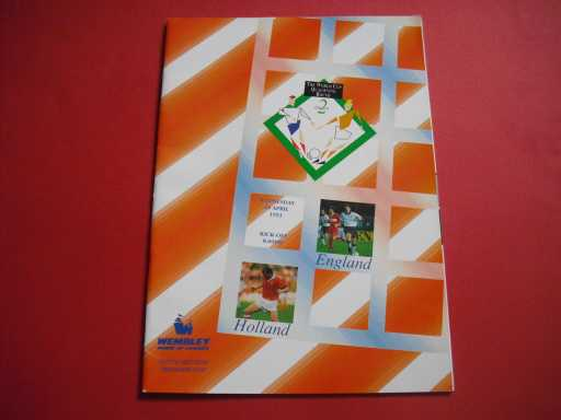 ENGLAND HOMES » 1993 ENGLAND V HOLLAND