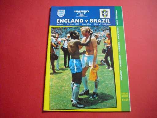 ENGLAND HOMES » 1995 ENGLAND V BRAZIL