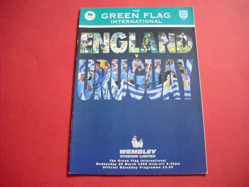 ENGLAND HOMES » 1995 ENGLAND V URUGUAY