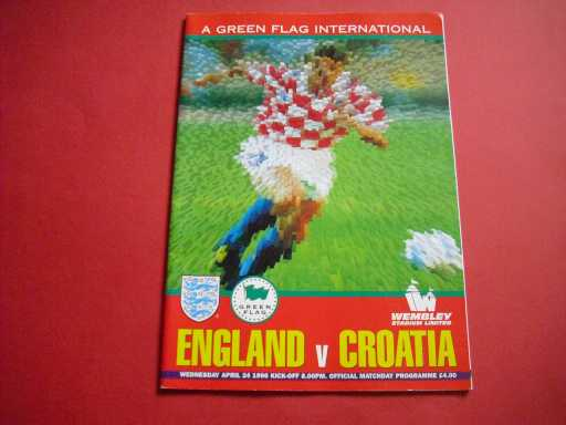 ENGLAND HOMES » 1996 ENGLAND V CROATIA