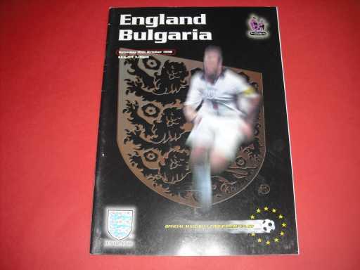 ENGLAND HOMES » 1998 ENGLAND V BULGARIA