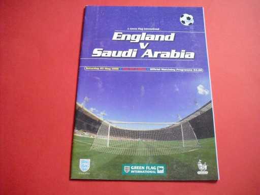 ENGLAND HOMES » 1998 ENGLAND V SAUDI ARABIA