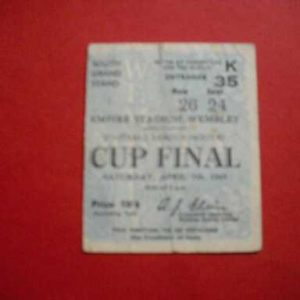 1945 CHELSEA V MILLWALL LEAGUE SOUTH CUP FINAL TICKET