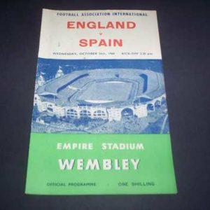 1960 ENGLAND V SPAIN