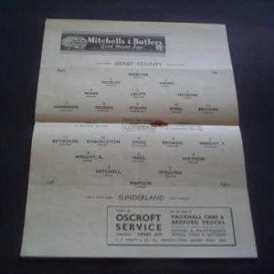1949/50 DERBY COUNTY V SUNDERLAND