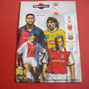 2000/01 ARSENAL V AJAX BARCELONA LAZIO AMSTERDAM TOURNAMENT FRIENDLY